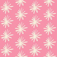 Spring Floral Asterix Flower fabric by smuk on Spoonflower - custom fabric
