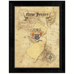 New Jersey State Vintage Flag Home Decor Office Wall Art Gift Ideas