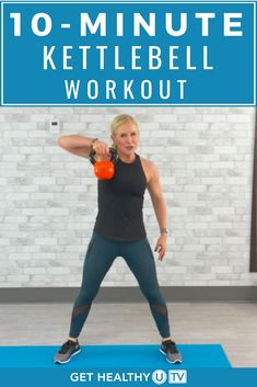10 Minute Kettlebell Workout Circuit Try this kettlebell workout when you want something quick & efficient that will torch calories and get your cardio up! Kettlebell Training, Kettlebell Benefits, Kettlebell Challenge, Kettlebell Circuit, Cardio Training, Weight Training Workouts, Workout Circuit, Dumbbell Workout, Boxing Workout