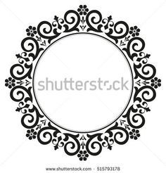 Decorative line art frames for design template. Elegant element for design in Eastern style, place for text. Lace vector illustration for invitations and greeting cards. Mandala Sketch, Mandala Drawing, Border Design, Circle Design, Decorative Lines, Embroidery Neck Designs, Outline Designs, Pencil Design, Stencils
