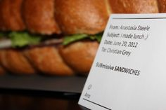 50 Shades of Grey SUBmissive Sandwiches I Party, Party Time, Party Ideas, 50 Shades Party, Pearl Party, Christian Grey, Fifty Shades Of Grey, 60th Birthday, Submissive