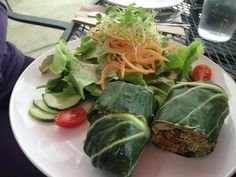 tuna salad collard green wraps, luna's living kitchen, charlotte, nc | brooke thomas