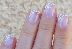 Easy #white #flower #wedding #nails French Manicure Nails, French Manicure Designs, Nail Designs, Flower Nail Art, Easy Nail Art, Nail Tutorials, Simple Nails, Wedding Nails, White Flowers