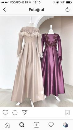 The very word conjures up images of gorgeous Muslim girls with pretty scarves tied around their head, hiding their hair from view. Muslim Fashion, Modest Fashion, Hijab Fashion, Fashion Dresses, Muslim Evening Dresses, Hijab Evening Dress, Beautiful Dress Designs, Most Beautiful Dresses, Hijab Dress Party