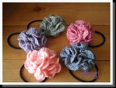 お花みたいな☆フリルたっぷりのヘアゴム♪の作り方|編み物|編み物・手芸・ソーイング|アトリエ