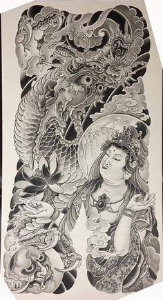 Asian Tattoos, Tribal Tattoos, Bonsai Tree Tattoos, Back Piece Tattoo, Japanese Tattoo Art, Japan Tattoo, Kuniyoshi, Oriental Tattoo, Large Tattoos