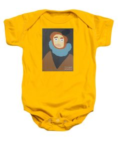 Patrick Francis Gold Designer Baby Onesies featuring the painting Portrait Of Maria Anna 2015 - After Diego Velazquez by Patrick Francis