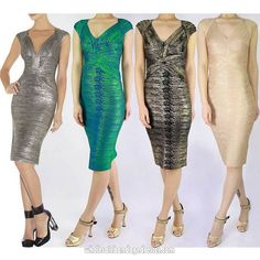 Luxury Metallic bandage dresses v neck gold bronze green sale cheap from China. Accept retail and wholesale. More selection for you! Fast shipping worldwide.