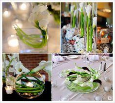 centre de table arome vase cylindrique mariage - Recherche Google