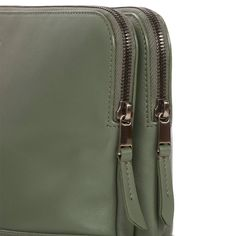 Davies Women's Double Zip Cross Body Bag - Sage   KNOMO