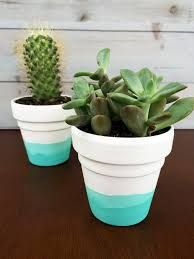 Two Tone Painted Pots Google Search Creative Jenny Pots - Diy two tone painted pots