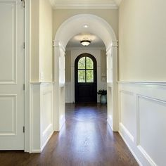 Natural Cream OC-14 by Benjamin Moore and Dove White trim.  Done and done!