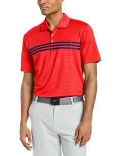 half off 0eaee 2af52 adidas Golf Men s Puremotion Climacool 3-Stripes Chest Polo Clothing  Consignment Shops, Adidas Golf