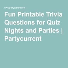 Use these printable trivia questions - and save yourself time creating a quiz from scratch. Each quiz has been lovingly researched for maximum fun. Trivia Questions For Adults, Trivia For Seniors, Disney Trivia Questions, Trivia Questions And Answers, Fun Questions To Ask, Trivia Quiz, This Or That Questions, Trivia Games For Adults, Party Questions