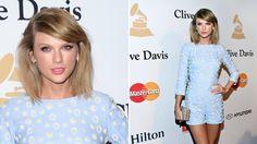 Taylor Swift im hellblauen Jumpsuit