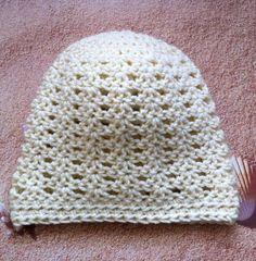 Crochet Beanie Women's Beanie Fits Teen to by KathysYarnCreations