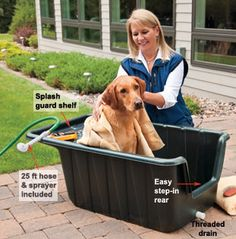 scrub-a-dub dog tub for kenne oh yes a dyi project now to make it on legs hight . - For the Pup - Dogs scrub-a-dub dog tub for kenne oh yes a dyi project now to make it on legs hight … – For the Pup Mobile Pet Grooming, Dog Grooming, Grooming Shop, Dog Bathing Station, Dog Bath Tub, Portable Dog Kennels, Diy Dog Kennel, Dog Wash, Dog Rooms