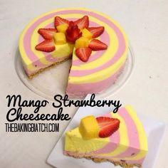 The Baking Biatch || by Cynthia Lim: Cynthia's Mango Strawberry Cheesecake