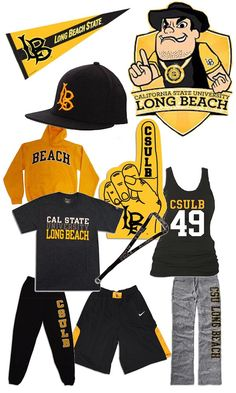 c331b18ad GO 49ers! Black and Gold. Cal State Long Beach