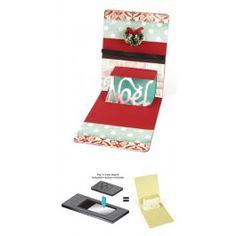 Sizzix - Pop n Cuts Magnetic Insert Die - Phrase Noel 3D - Pop-Up