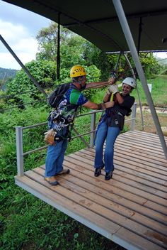 A brief introduction to Toro Verde: Getting Ready for Ziplining with the Toro Verde Staff