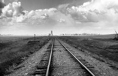 Rail Road Tracks Print By Donald  Erickson