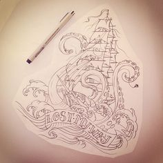 Love the way the kraken is taking the ship down in this one.. this is the closest to what i would like design wise.