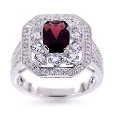 V3 Jewelry Sterling Silver 2.1cttw Garnet and White Topaz Split Shank Halo Ring V3 Jewelry http://www.amazon.com/dp/B016OPES6Q/ref=cm_sw_r_pi_dp_-OHrwb0ZPK97W