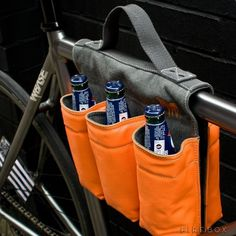 Holiday gifts for men: Saddlebags 6-bottle bike bag. How great!