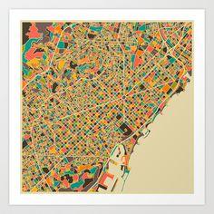 BARCELONA Art Print by Jazzberry Blue - $19.00(Society6.com)