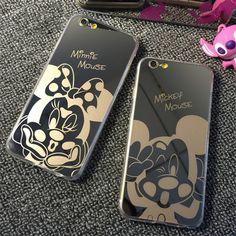 ホットミラースタイルかわいい甘いミッキーミニーマウスcapaソフトtpu電話ケースiphone 5 5 5グラム5 s se 6 6グラム6 s 4.7 6プラス5.5インチ