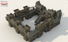 Castle Inspiration for Minecraft Fantasy City, Fantasy Castle, Fantasy House, Fantasy Map, Minecraft Castle, Minecraft Medieval, Minecraft Fort, Minecraft Crafts, Minecraft Skins