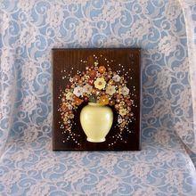 20% OFF Nail Flower Art by Pauline A. Owens  Circa 1977 Pol-O-Craft