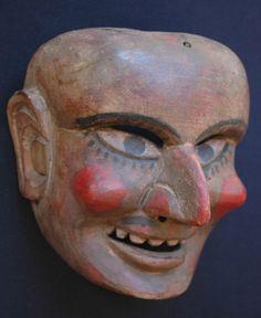 Vintage Guatemalan Dance Mask Ajitz Shaman 2 Mayan Folk Art Fair Trade | eBay