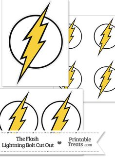 The Flash Lightning Bolt Symbol Cut Out from PrintableTreats.com
