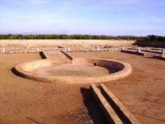 Impluvium de la villa romana de Benicató (Nules, Castellón). Esta villa romana estuvo habitada entre finales del siglo I a.C. y mediados del siglo III d.C. Hasta la fecha, se han descubierto 35 estancias de la villa, siendo la más importante de la provincia de Castellón (foto: Ana Ovando).