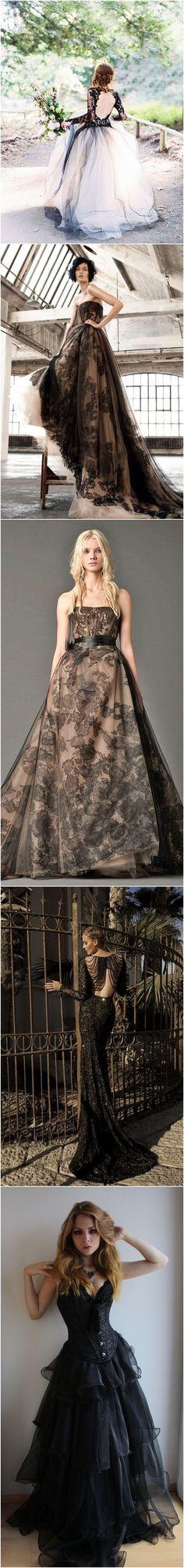 Beautiful Black Wedding Dresses You Will Love / http://www.himisspuff.com/black-wedding-dresses/