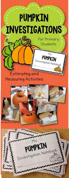 Get your students engaged in some hands-on seasonal math activities! This pumpkin investigation package from Mrs. Beattie's Classroom is full of estimating and measuring activities!