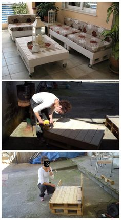 Terrace lounge #Lounge, #Pallets, #Sofa