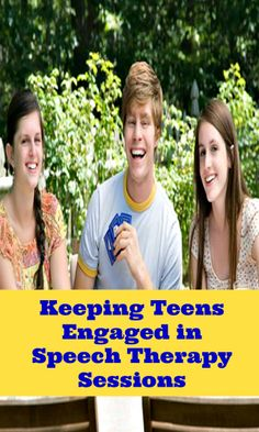 The secret to keeping teens engaged in speech therapy?  Read about one of them here!