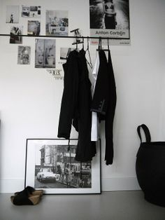 Self designed hanging clothes rack for some Parisian chic at your home ;)