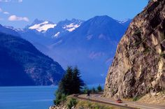 Sea-to-sky highway (drive from Vancouver to Whistler, BC) Canada. The most beautiful drive!