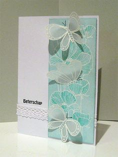 aqua, pool, vellum and white embossing. Takes my breath away!