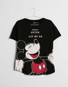 T-shirt BSK Mickey paillettes - New - Bershka France