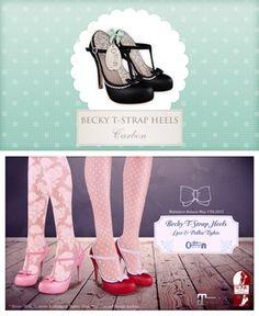 The Secret Store - Becky T-Strap Heels - Carbon