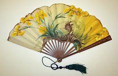 Early 20th century, America - Fan - Silk, wood