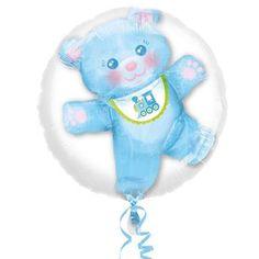 Ver detalles de Globo oso sorpresa azul Baby Shower, Tweety, Smurfs, Pillows, Children, Fictional Characters, Christening, Baby Sprinkle Shower, Bed Pillows