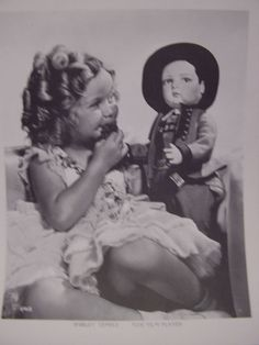 1934 Shirley Temple and Alpine boy doll in a Tyrolean costume a gift from Geneva, Switzerland