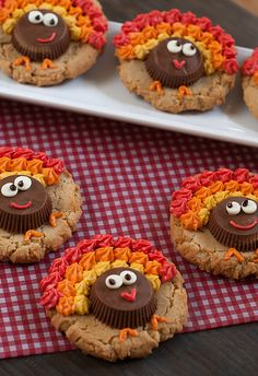 Peanut Butter Cup Turkey Cookies