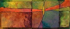 April in Carolina mixed media spring abstract Carol Nelson Fine Art, painting by artist Carol Nelson
